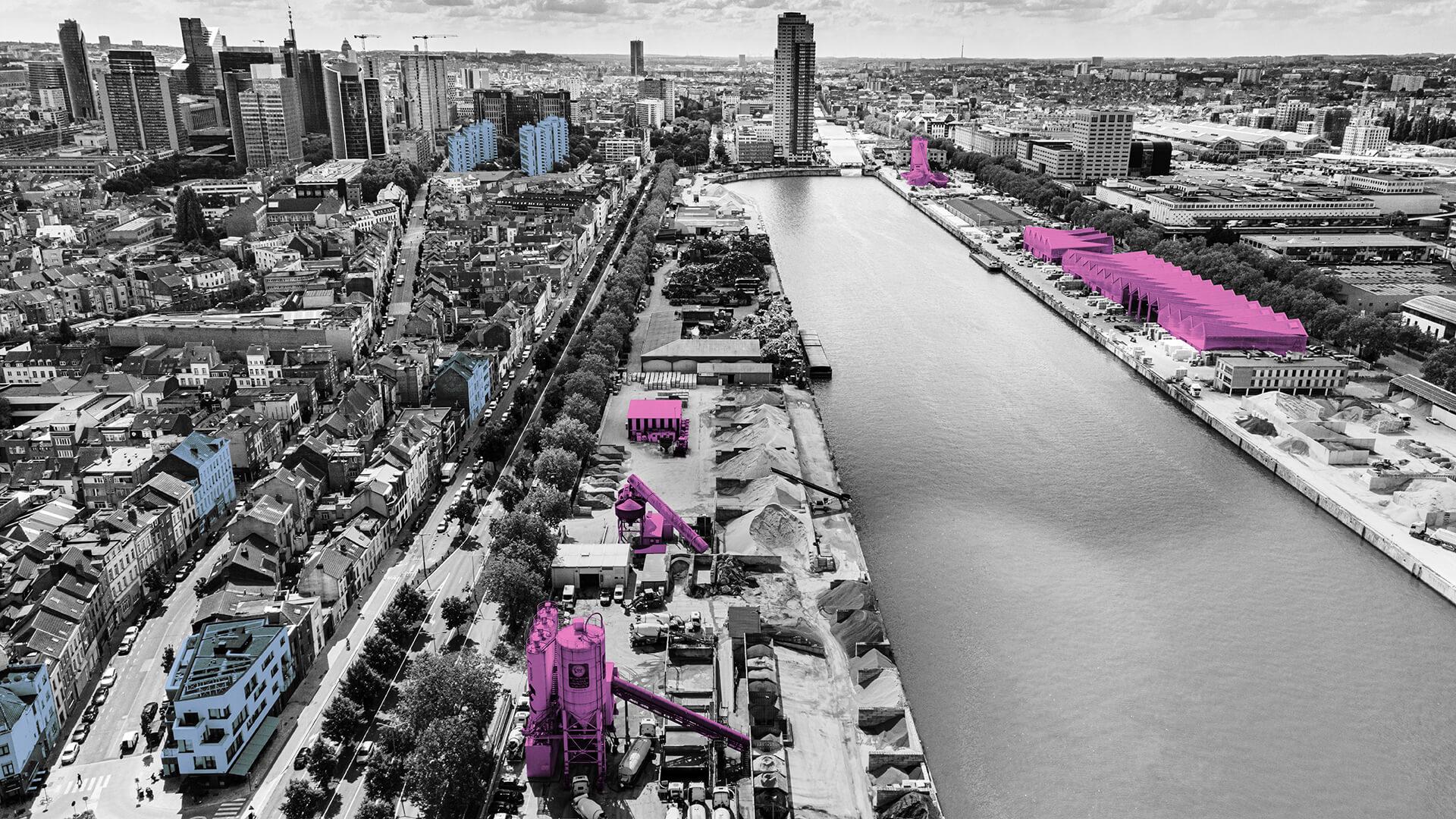 """""""La ville est en construction permanente. Il faut que les bétonniers soient au cœur de la ville. Les matériaux y arrivent par bateau"""", explique Philippe Mathis (Port de Bruxelles)."""