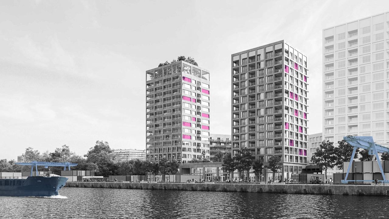 Langs het kanaal worden niet alleen woningen gebouwd. Bedrijven worden uitgenodigd de ruimte die ze innemen te rationaliseren. Hier werd Gobert Matériaux uitgenodigd om ruimte vrij te maken voor de brouwerij Brussels Beer Project.
