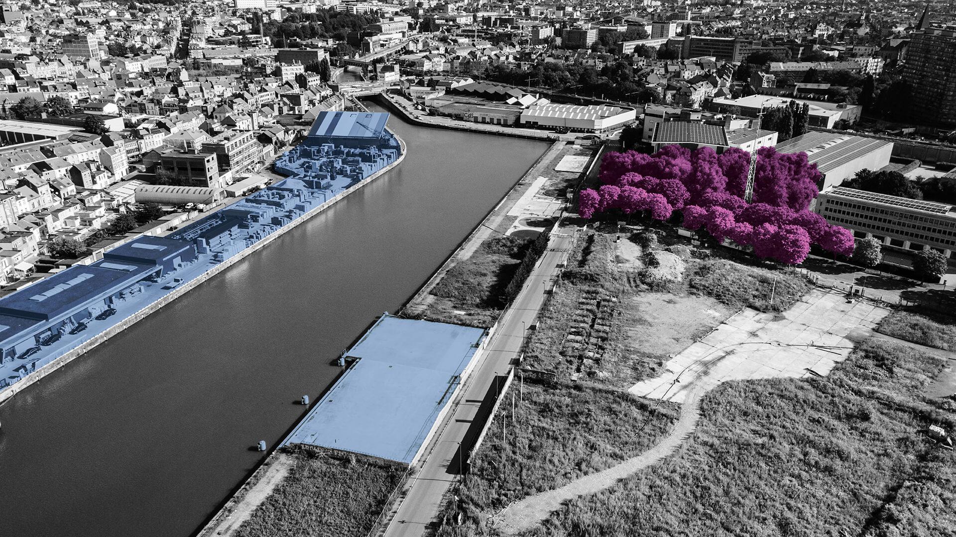 Het Urbanities-project in Anderlecht, een voorbeeld van een gebouw met meerdere functies.