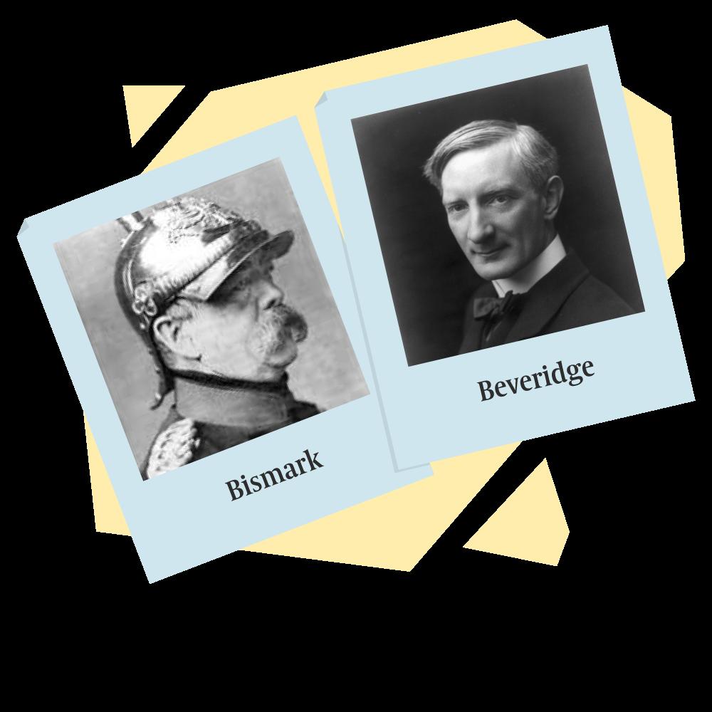 Illu polaroïde Bismark VS Beveridge